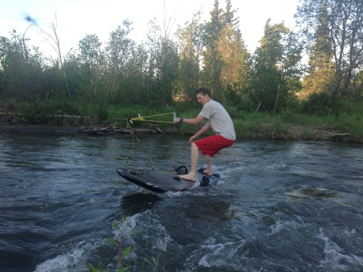 Creek surfing